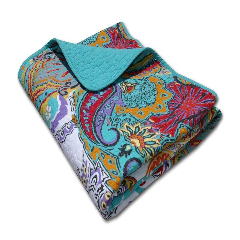 Throws Nirvana Teal Throw Latest Bedding