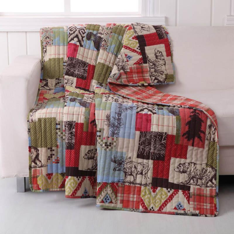 Throws Rustic Lodge Quilted Throw - 100% Cotton Latest Bedding
