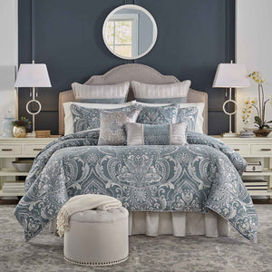 Gabrijel Slate Blue 4-Piece Comforter Set [Luxury comforter Sets] [by Latest Bedding]