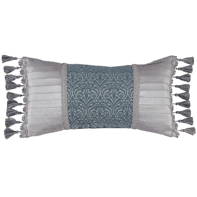 "Gabrijel Slate Blue Boudoir Pillow 22"" x 11"" Throw Pillows By Croscill Home LLC"