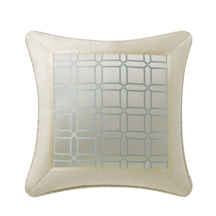 "Gael Platinum/Gold Decorative Throw Pillow 18"" x 18"""