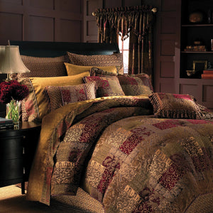 Galleria Red 4-Piece Comforter Set By Croscill [Luxury comforter Sets] [by Latest Bedding]
