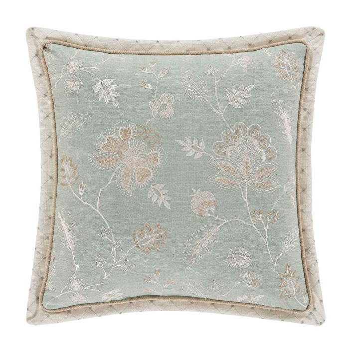 "Garden View SPA Square Decorative Throw Pillow 18""W x 18""L"""