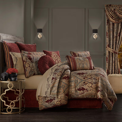 Garnet Red 4-Piece Comforter Set [Luxury comforter Sets] [by Latest Bedding]