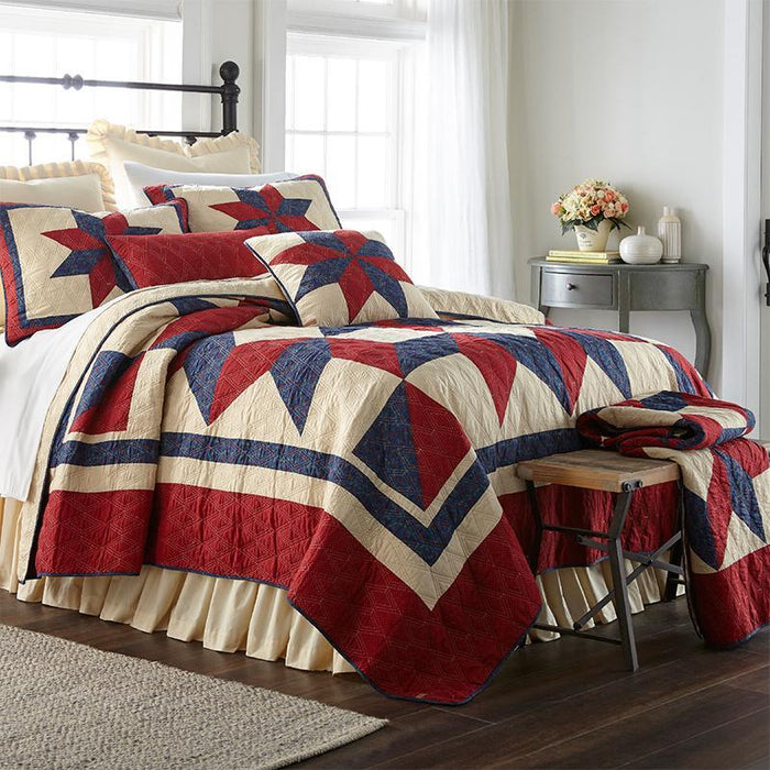 Gatlinburg Star 3-Piece Cotton Quilt Set