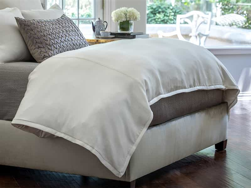 Gia Ivory Cotton/Silk Duvet Cover [Luxury comforter Sets] [by Latest Bedding]