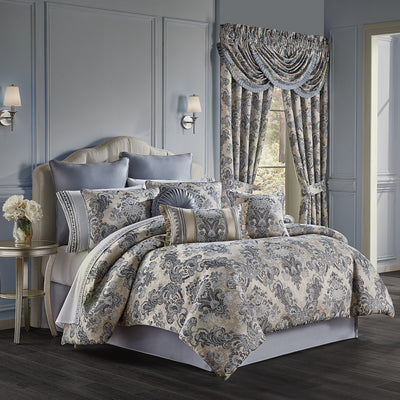 Glendale Blue 4-Piece Comforter Set [Luxury comforter Sets] [by Latest Bedding]