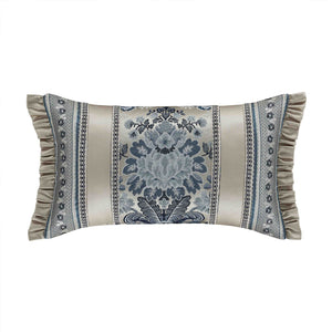 "Glendale Blue Boudoir Decorative Throw Pillow 21"" x 13"" [Luxury comforter Sets] [by Latest Bedding]"