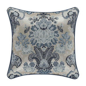 "Glendale Blue Square Decorative Throw Pillow 18"" x 18"" [Luxury comforter Sets] [by Latest Bedding]"