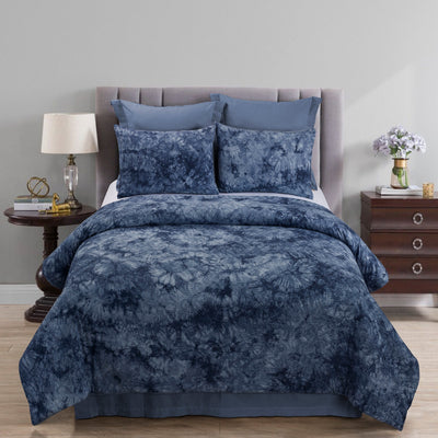 Granada Navy 3-Piece Comforte Set [Luxury comforter Sets] [by Latest Bedding]