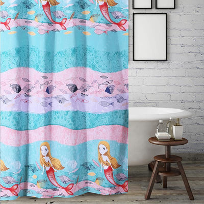 Mermaid Multi Bath Shower Curtain [Luxury comforter Sets] [by Latest Bedding]