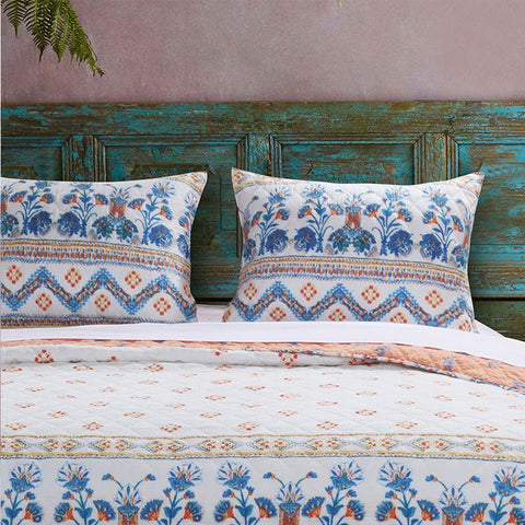 Sham Greenland Home Fashions Aleena Sham White Poly Cotton Latest Bedding