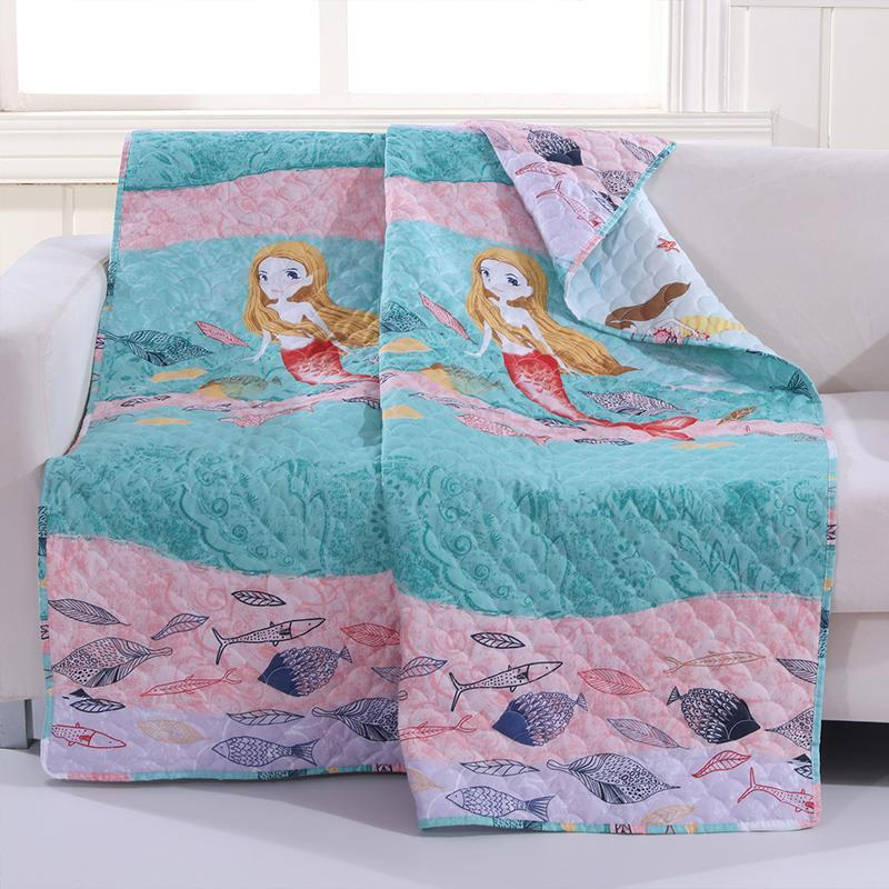 Mermaid Multi Throw [Luxury comforter Sets] [by Latest Bedding]