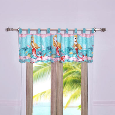 Mermaid Multi Window Valance [Luxury comforter Sets] [by Latest Bedding]
