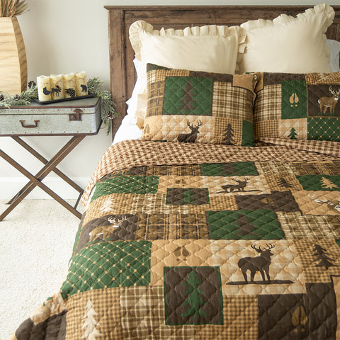 Green Forest 3-Piece Quilt Set [Luxury comforter Sets] [by Latest Bedding]