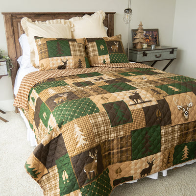 Green Forest 3-Piece Quilt Set Quilt Sets By Donna Sharp