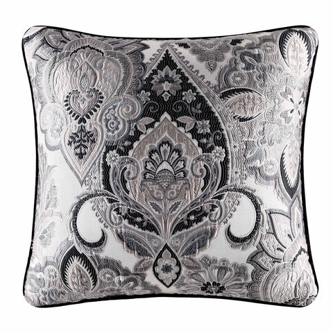 "Guiliana Silver Square Decorative Throw Pillow 20"" x 20"" [Luxury comforter Sets] [by Latest Bedding]"