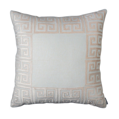 Guy Ivory Basketweave Blush Velvet Euro Throw Pillow [Luxury comforter Sets] [by Latest Bedding]