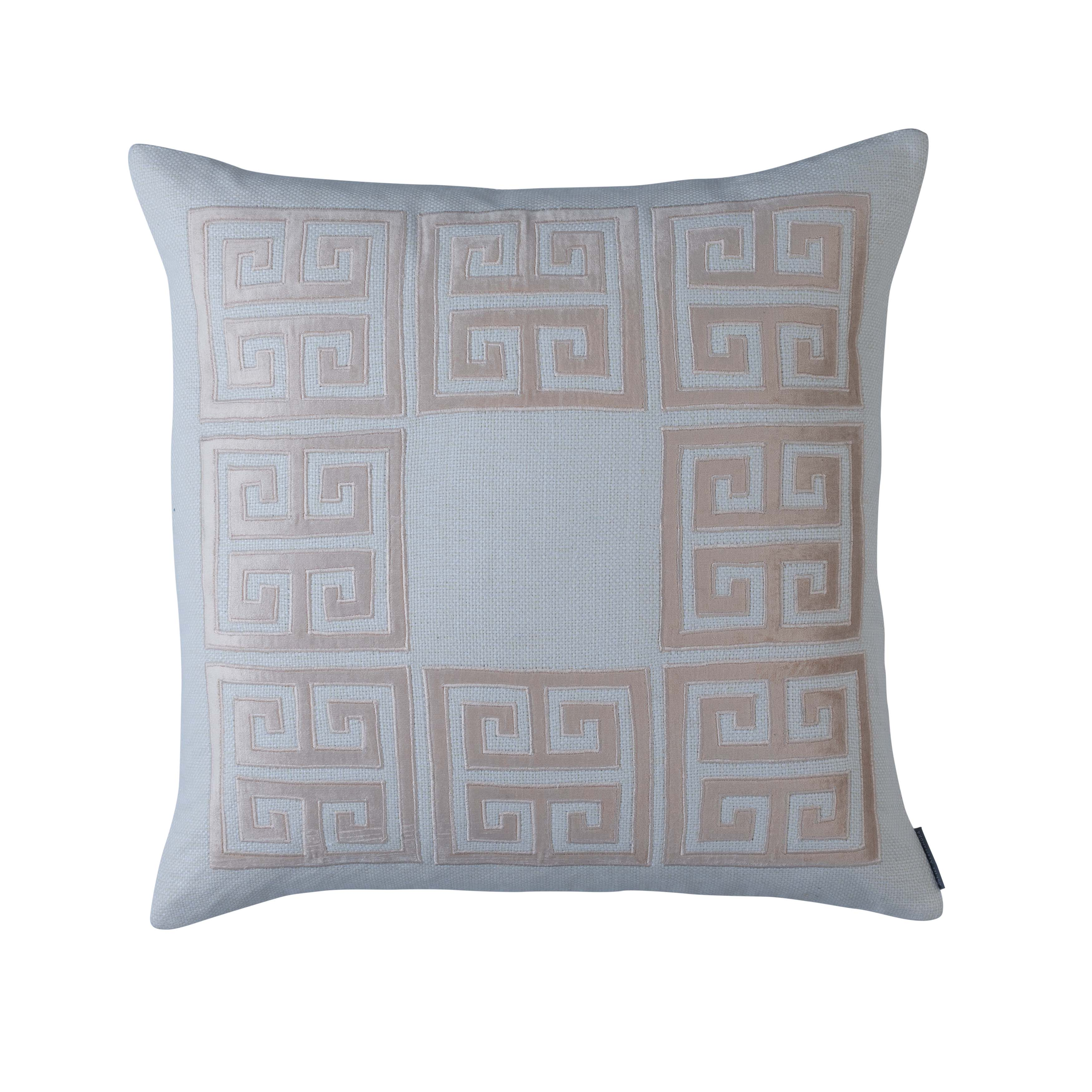 Guy Ivory Basketweave Blush Velvet Square Throw Pillow [Luxury comforter Sets] [by Latest Bedding]