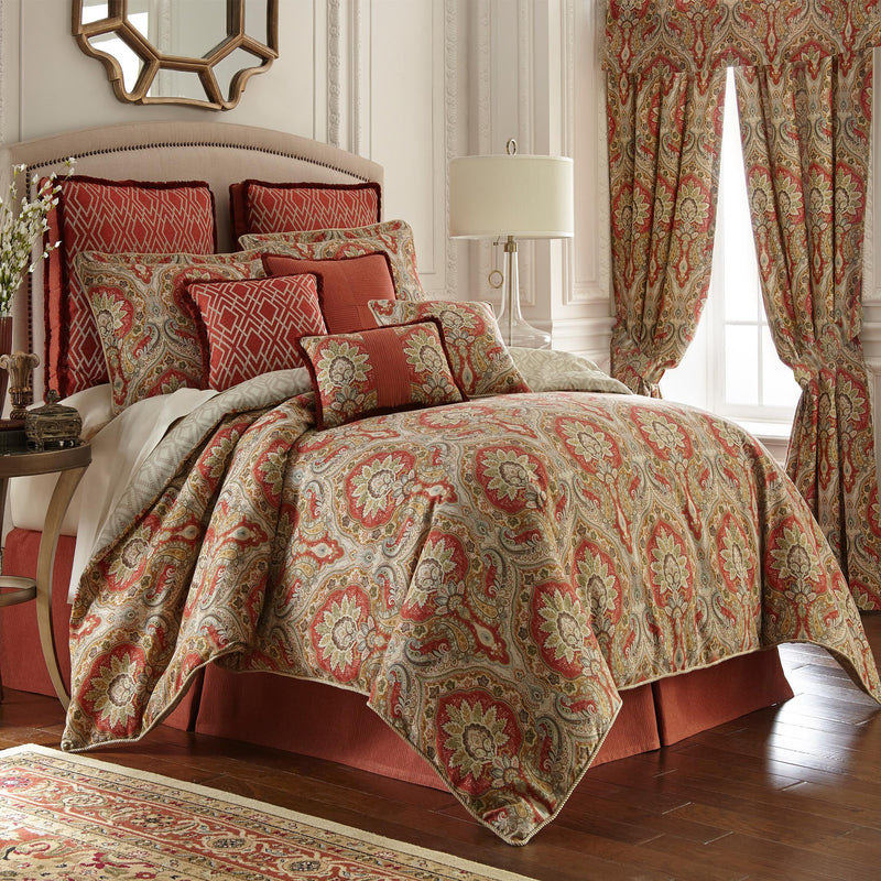 Harrogate Multi Paisley 4-Piece Comforter Set [Luxury comforter Sets] [by Latest Bedding]
