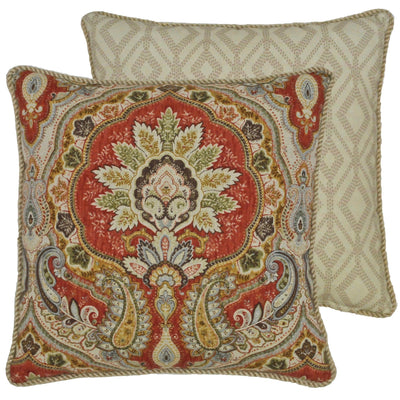Harrogate Multi Paisley Throw Pillow [Luxury comforter Sets] [by Latest Bedding]