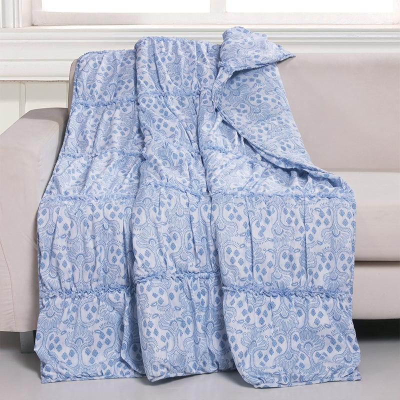 Throws Helena Ruffle Blue Throw Latest Bedding