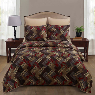 Hidden Valley 3-Piece Quilt Set [Luxury comforter Sets] [by Latest Bedding]
