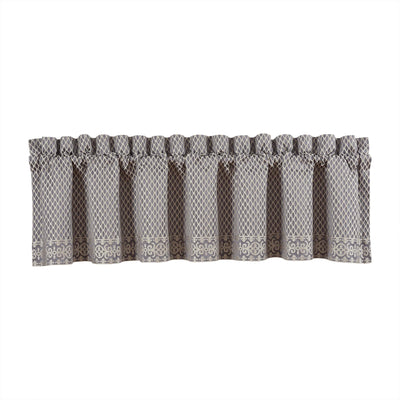 Houston Charcoal Straight Window Valance [Luxury comforter Sets] [by Latest Bedding]