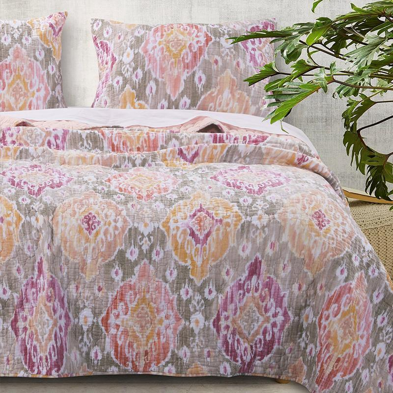 Quilt Sets Ibiza Multi 3-Piece Quilt Set [Luxury comforter Sets) ( by Latest Bedding)]