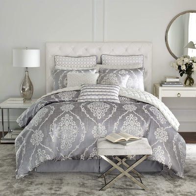 Isla Grey 4-Piece Comforter Set By Croscill Comforter Sets By Croscill Home LLC