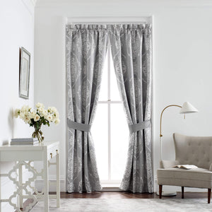 Isla Grey Drapery Window Panel Pair By Croscill [Luxury comforter Sets] [by Latest Bedding]