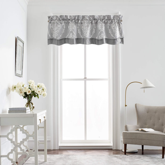Isla Grey Scallpped Window Valance By Croscill