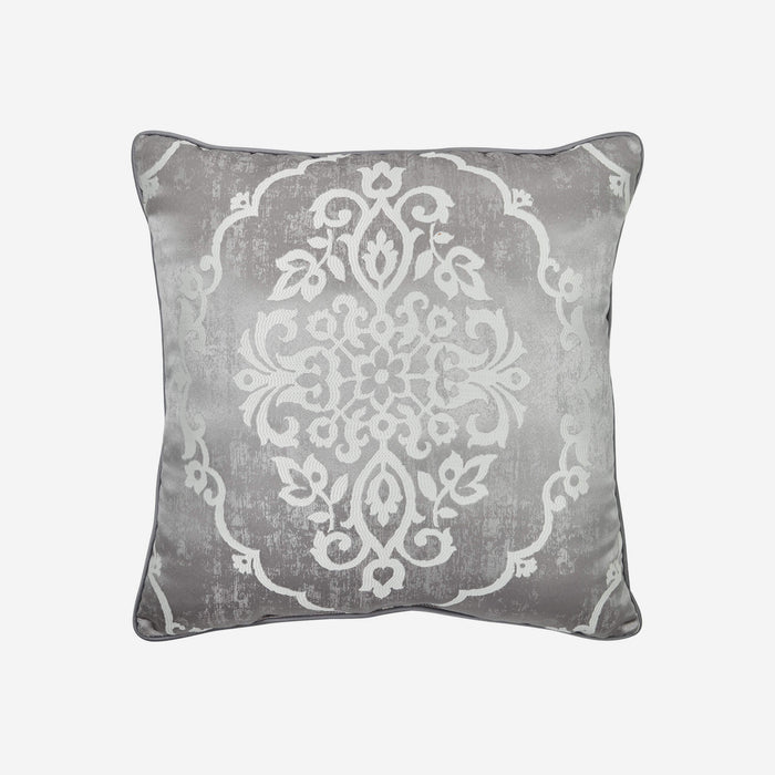 "Isla Grey Square Throw Pillow 20"" x 20"" By Croscill"