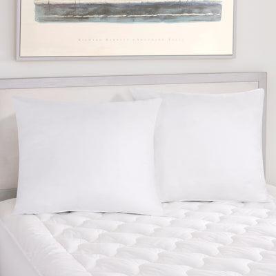 Regal 233 White Euro Pillow Pair [Luxury comforter Sets] [by Latest Bedding]