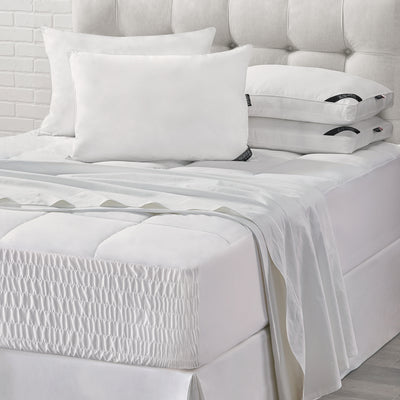 Royal Fit White Mattress Topper [Luxury comforter Sets] [by Latest Bedding]