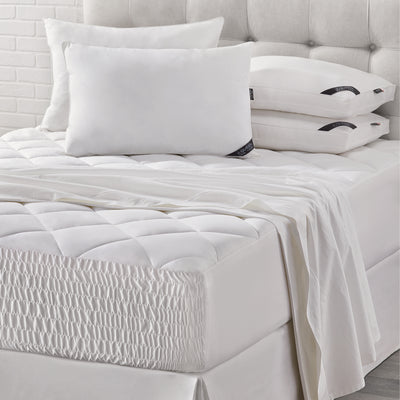 Royal Fit White Top Mattress Pad [Luxury comforter Sets] [by Latest Bedding]