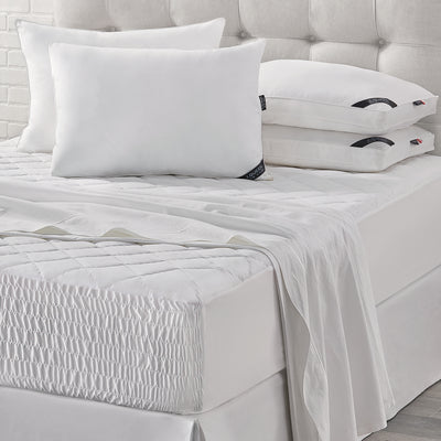 Royal Fit White Waterproof Mattress Pad [Luxury comforter Sets] [by Latest Bedding]