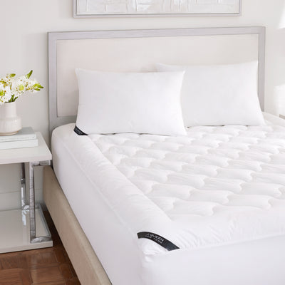 Royalty 233 White Mattress Pad [Luxury comforter Sets] [by Latest Bedding]