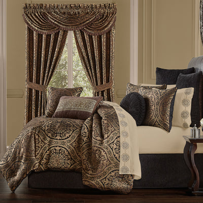 Jordan Chocolate 4-Piece Comforter Set [Luxury comforter Sets] [by Latest Bedding]