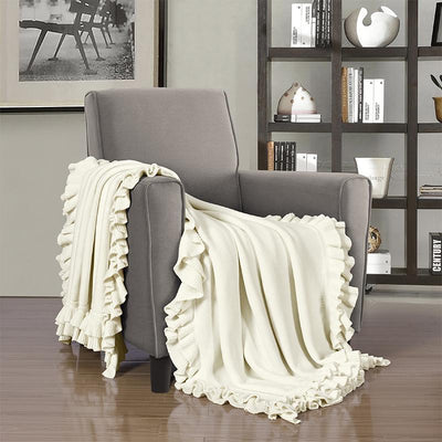 Joyce Ivory Throw [Luxury comforter Sets] [by Latest Bedding]