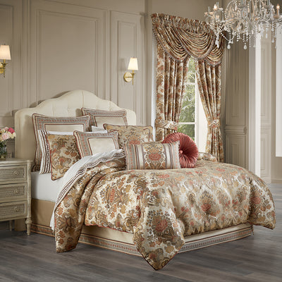 Juliette Terracotta 4-Piece Comforter Set [Luxury comforter Sets] [by Latest Bedding]