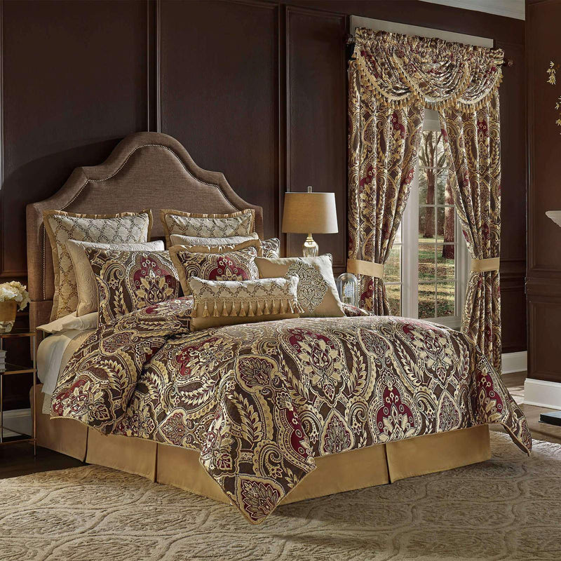 Croscill Julius Red 4 Piece Comforter Set