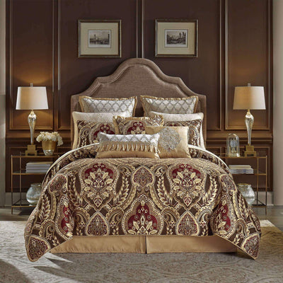 Julius Red 4-Piece Comforter Set By Croscill Comforter Sets By Croscill Home LLC