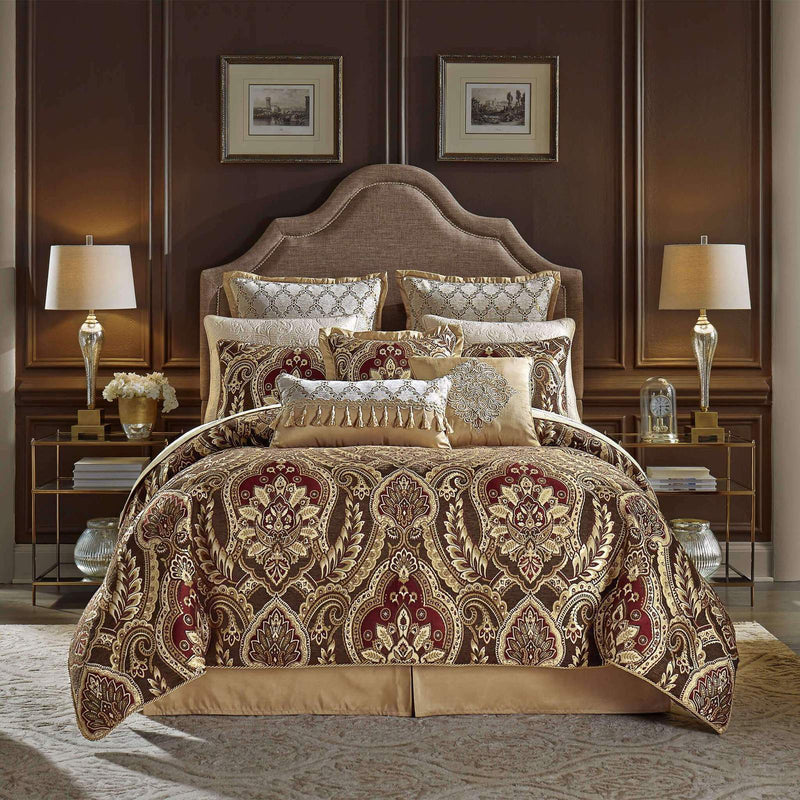 Julius Red 4-Piece Comforter Set By Croscill [Luxury comforter Sets] [by Latest Bedding]