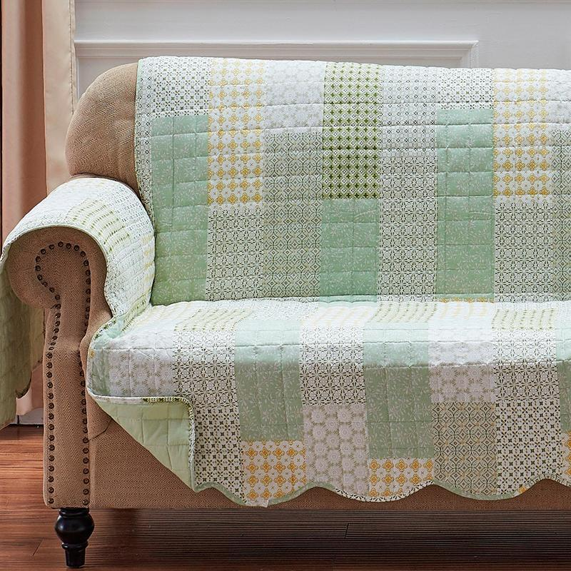 Juniper Sage Sofa Protector Slipcovers By Greenland Home Fashions