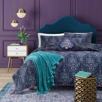 Kayani Indigo Coverlet [Luxury comforter Sets] [by Latest Bedding]