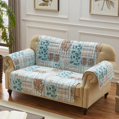 Key West Seafoam Loveseat Protector [Luxury comforter Sets] [by Latest Bedding]