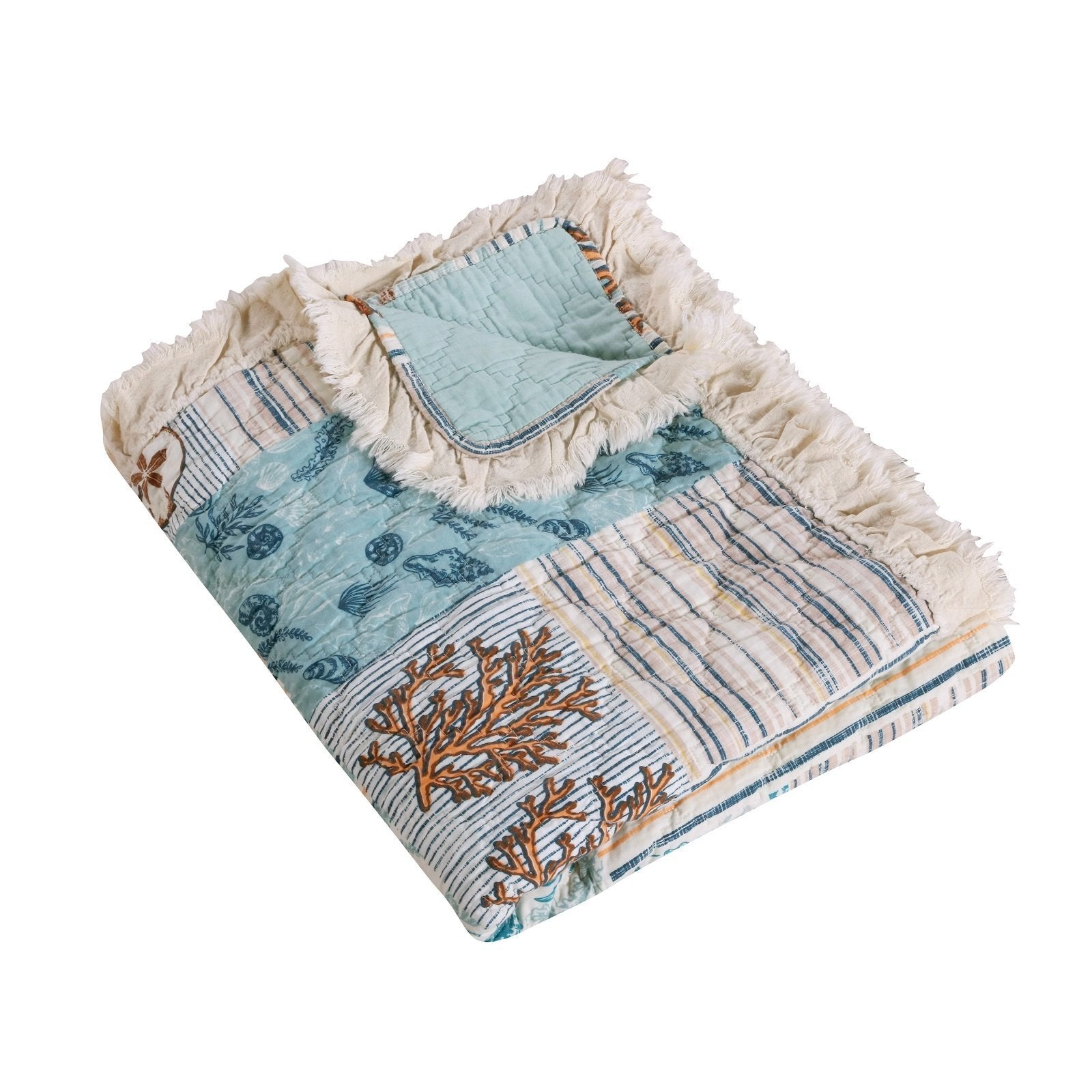 Key West Seafoam Throw Throws By Greenland Home Fashions
