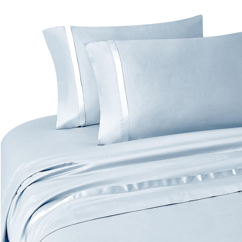 Kiley Blue 4-Piece Sheet Set [Luxury comforter Sets] [by Latest Bedding]