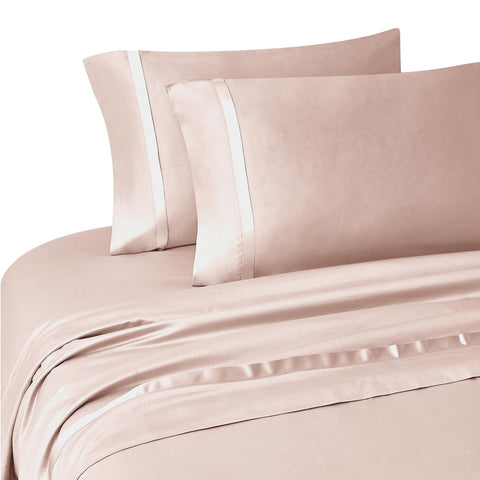 Kiley Blush 4-Piece Sheet Set [Luxury comforter Sets] [by Latest Bedding]